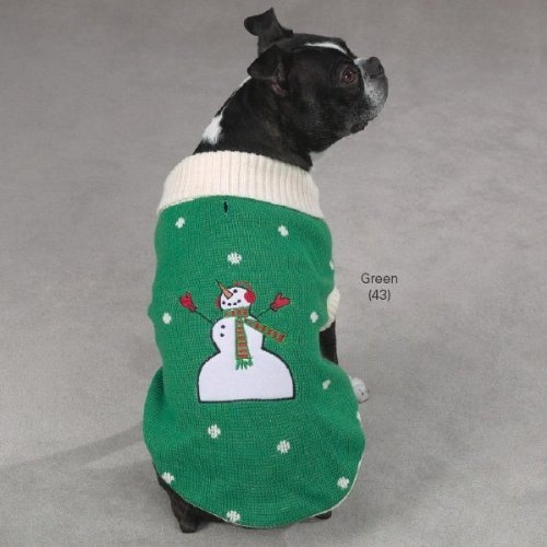 Zack Zoey Polyestercotton Embroidered Dog Santa Pullover Xx-small Red