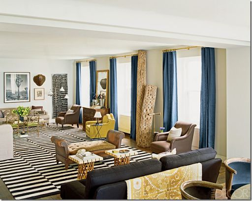 stripe brown and white rug
