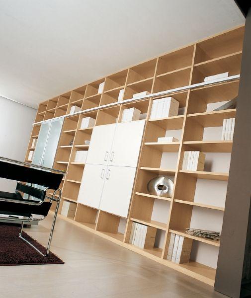 ... in camere e camerette per ragazzi - libreria con scaletta scorrevole