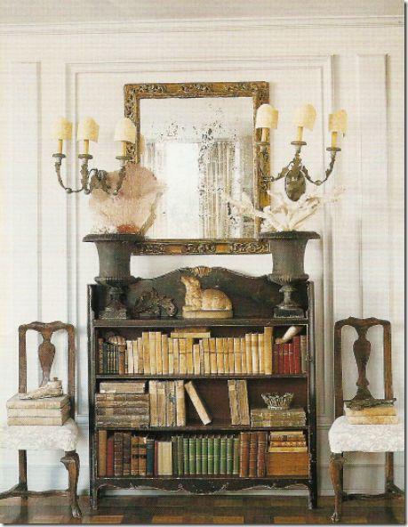 Foyer Shelves Books English Decor English Manor Decor Pinterest