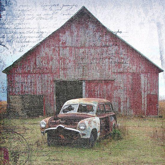 Old Car Old Barn