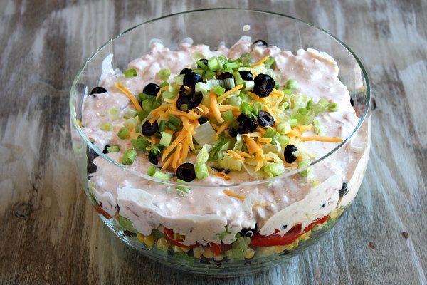 Layered Taco Salad from @RecipeGirl Lori