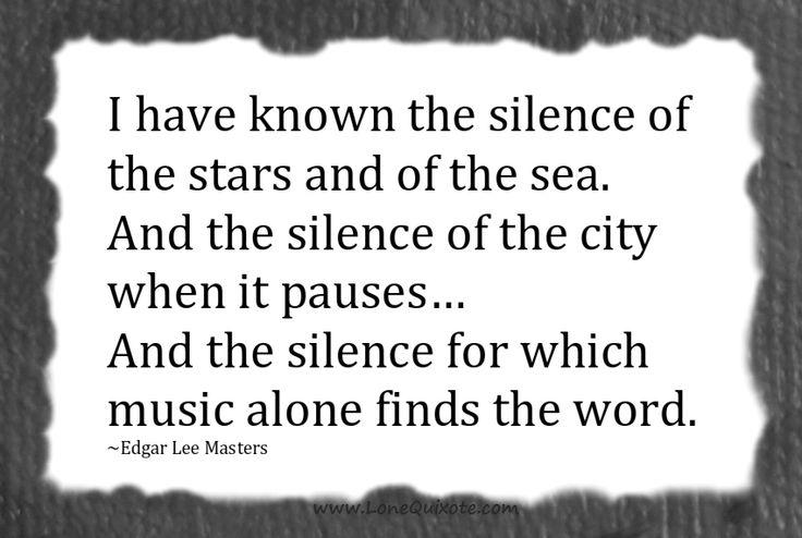Edgar Lee Masters silence