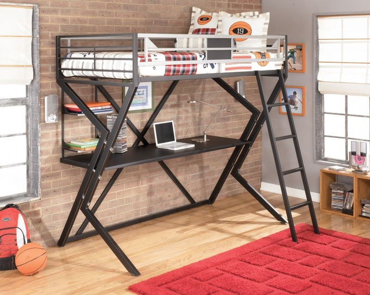 Ashley Furniture Loft Bed with Desk 736 x 588