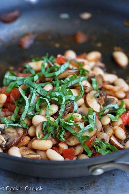 Mushroom, Tomato & Basil Ragout Recipe On English Muffin | Recipe