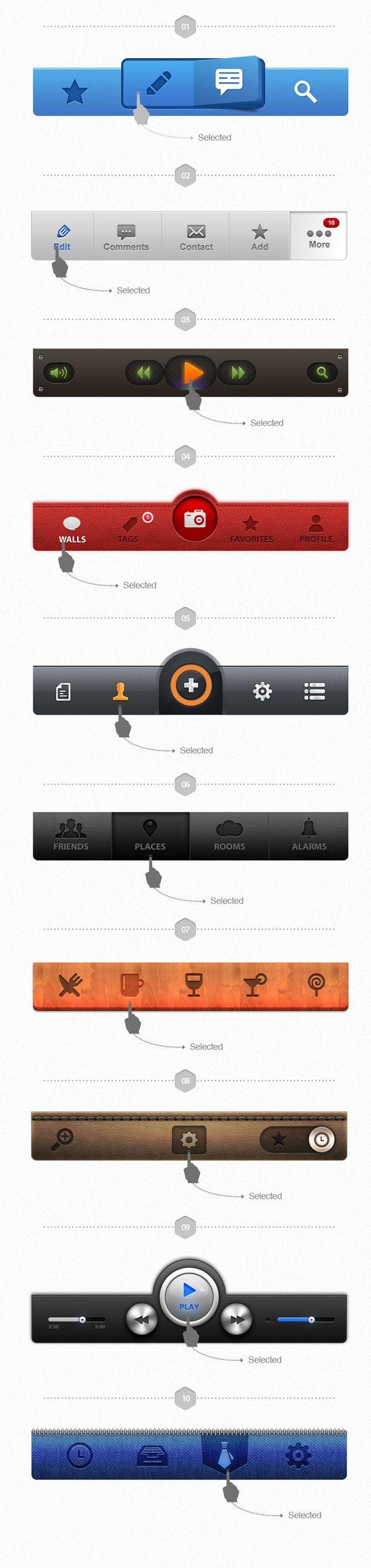 #ios #app #menu #bar #ui #ux