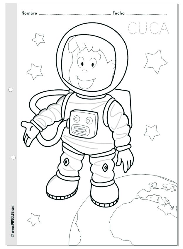 astronaut printable coloring sheets - photo #41