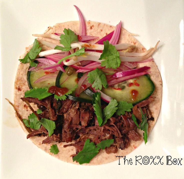 Crockpot Korean Short Ribs Tacos Bento #59 — The ROXX Box