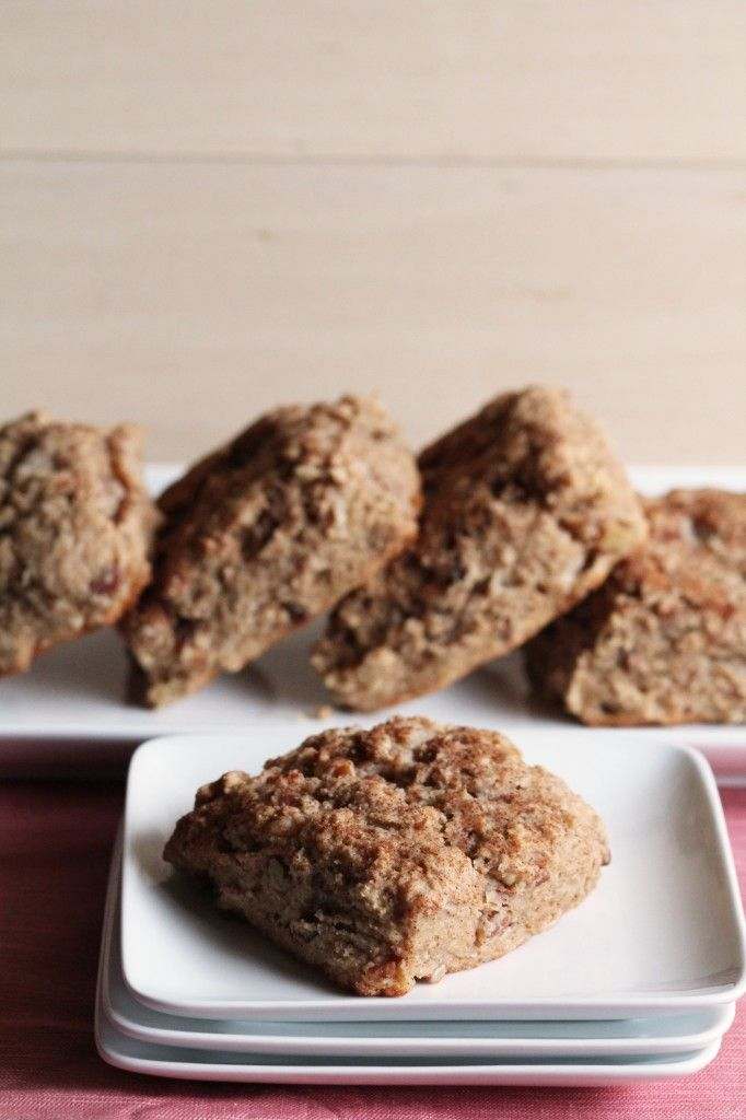 Whole Wheat Cinnamon Bun Scones | Shh... it's made with Greek Yogurt ...