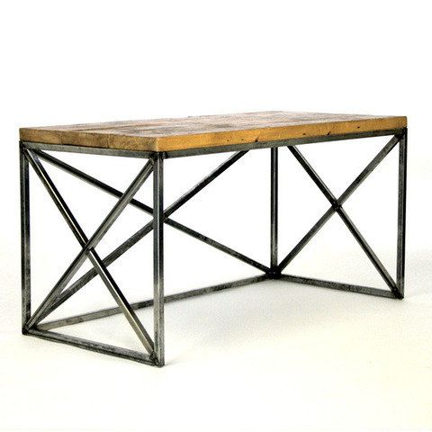 Office desk reclaimed wood easy furniture pinterest - Reclaimed wood office desk ...