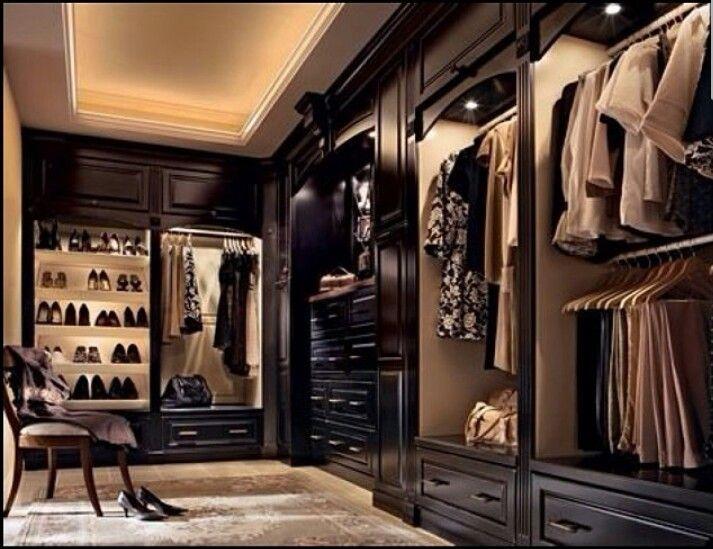 Dark Wood Amazing Closets Pinterest