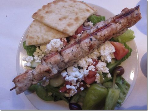 Chicken Souvlaki With Tzatziki Sauce And Greek Salad ...