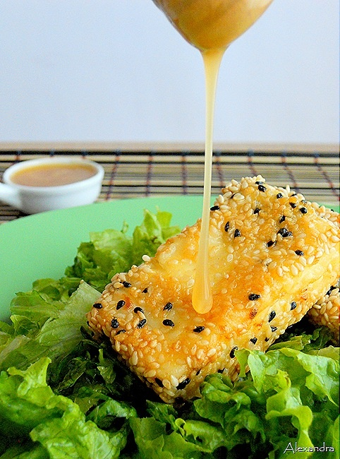 feta cheese with honey and sesame..... | FOOOOD | Pinterest