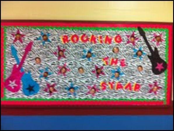 Rockstar Classroom Decor ~ Rock star theme schoolgirlstyle bulletin board