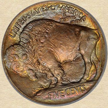 1913 T1 Buffalo Nickel Reverse