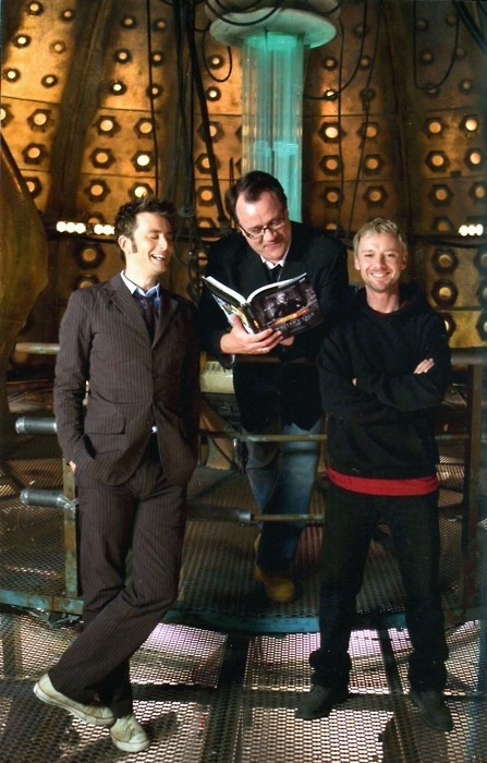 Tenth Doctor Master/David Tennant John SImm and RTD