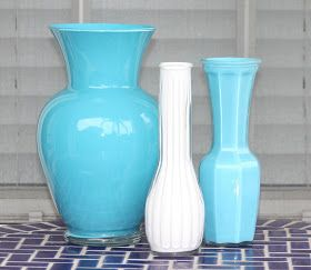 Desperate Craftwives: Acrylic Painted Vases