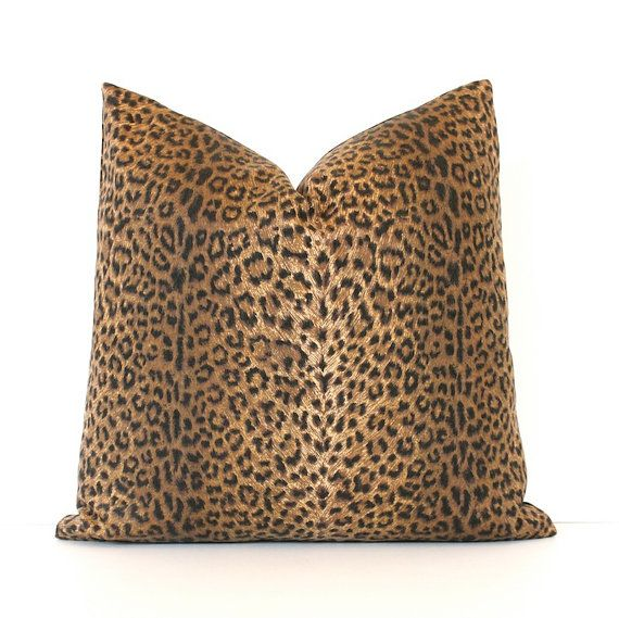 Modern Animal Print Decorative Designer Pillow Cover 18 black brown t?