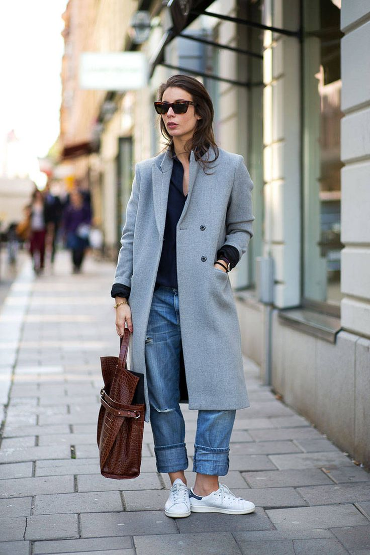 cuffed up denim & oversized topper. Irina in Stockholm. #APortablePackage