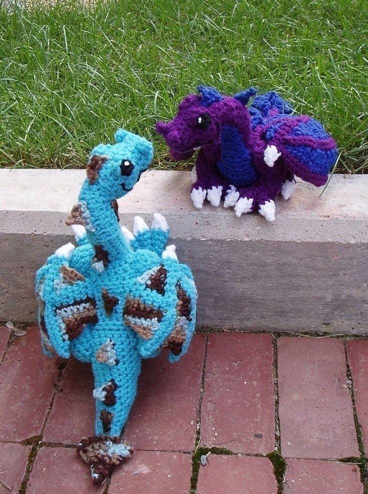 Knit Dragon Pattern Free : PATTERN -- Crocheted Dragon