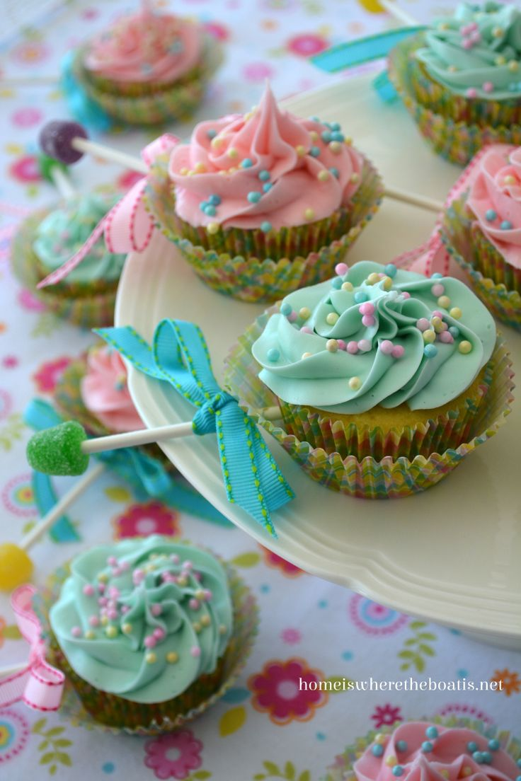 Baby rattle cupcakes - cute! | Cupcakes | Pinterest