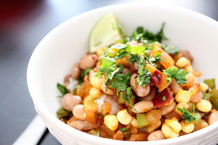 Chipotle Black Bean, Corn, And Rice Bowl Recipe — Dishmaps