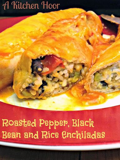 Roasted Pepper, Black Bean and Rice Enchiladas | Recipe