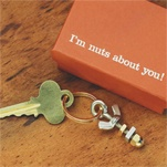Nuts About You Key Ring