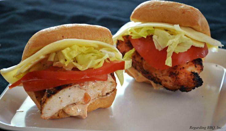 ... Chicken and Cheese Po'Boy Sliders #sliders #sandwich #chicken