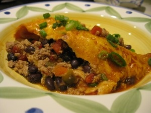 Black bean and turkey enchiladas - made these tonight and everyone ...