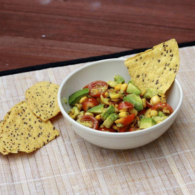 ... avocado dressing tomato tomatillo and corn salad with avocado dressing