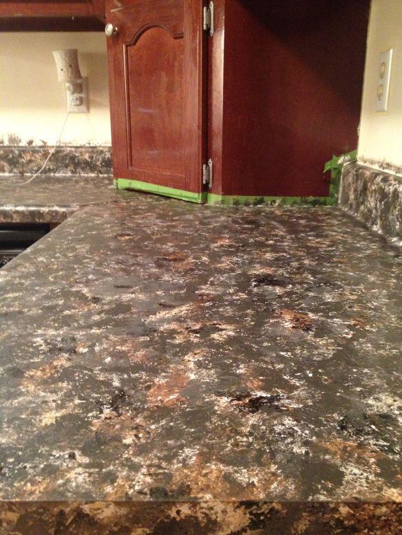 DIY Faux Granite counter tops. Painting things Pinterest