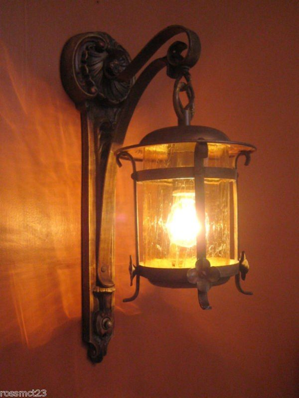 Wall Sconces En Espanol : spanish Iron wall sconce Spanish inspired lighting Pinterest