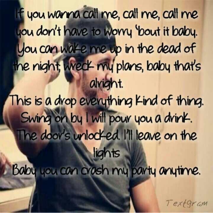 Luke Bryan Crash My Party Lyrics