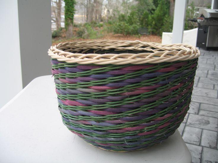 Basket Weaving Dyed Reed : Dyed reed basket my art