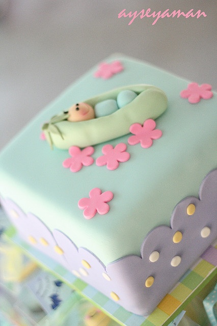 Sweet Pea baby shower cake by ayse's cakes in new jersey, new york ...