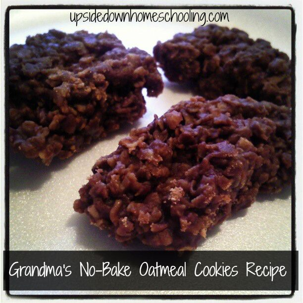 Grandma's No-Bake Oatmeal Cookies Recipe: Yummy and fun to make with ...