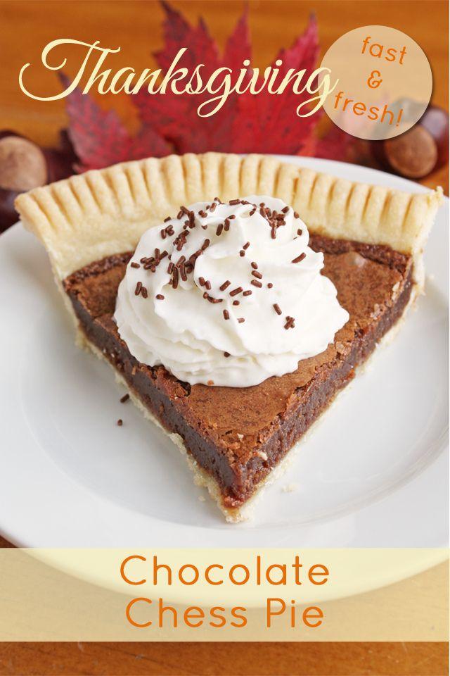 Chocolate Chess Pie | Fall, Halloween & Thanksgiving | Pinterest