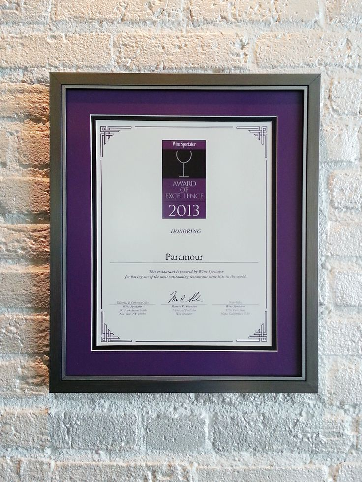 Paramour offers an Award-Winning Wine List, designed to complement and ...