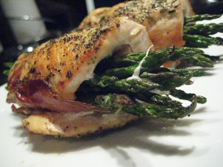 THEIR RECIPE: Chicken roll-ups with asparagus, prosciutto, basil, and ...