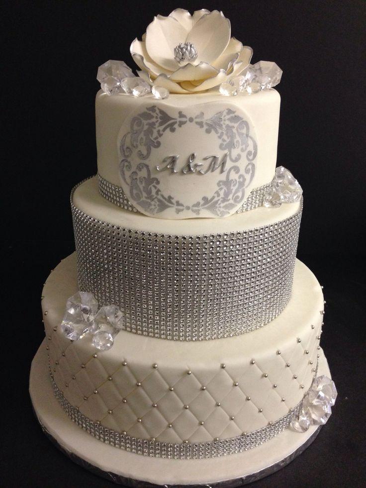 Bling Wedding Cake Wedding Cakes Pinterest
