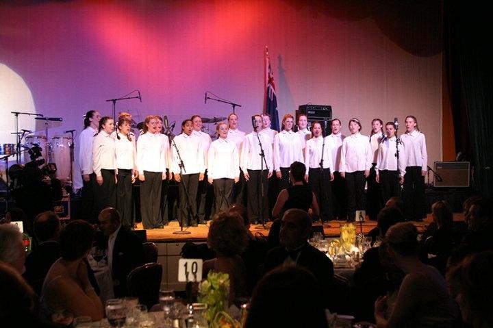 The Qantas Girls Choir at the very beginning. 2004 Black Tie Gala