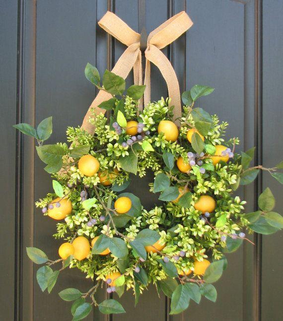 Summer wreath on my front door flower pinterest