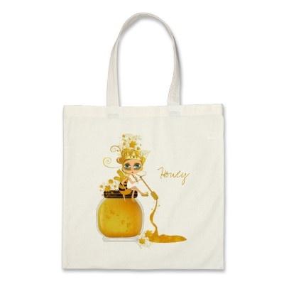 Honey Bee Tote Bag by PeppersPolishMafia