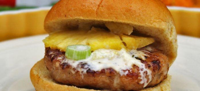 Hawaiian Chicken Burgers | Nummy Nummy | Pinterest
