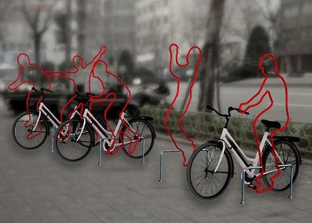 Creative Bike Rack Ciclopuertos Pinterest