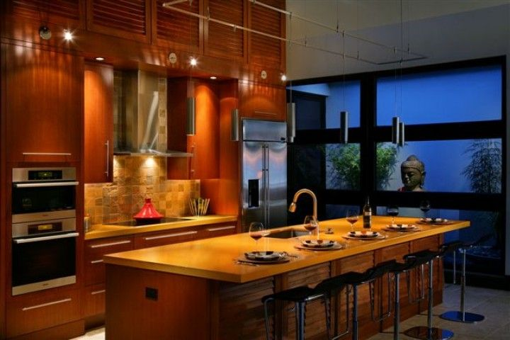 Warm zen kitchen kitchen design ideas pinterest for Zen style kitchen designs