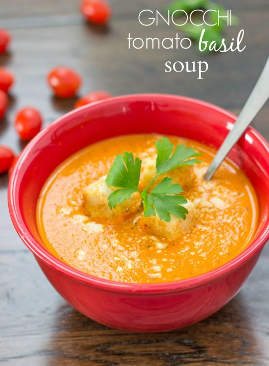Gnocchi Tomato Basil Soup   Chelsea's Messy Apron