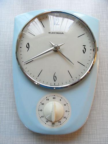 vintage kuchenuhr : Details zu 50er 60er Jahre Uhr K?chenuhr mit Eieruhr Sechziger Sixtie ...