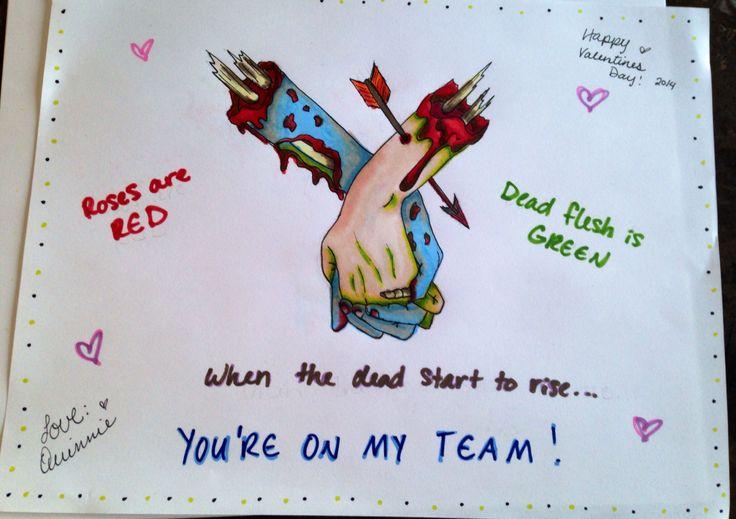valentine's day zombie quotes